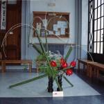 """Installazione Orto Botanico di Napoli 2011 – Mostra Ikebana e Shodo """"L'ikebana festeggia i 150 anni dell'Unità d'Italia"""""""